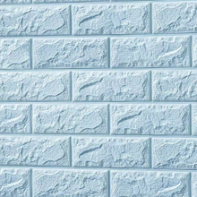 3D Brick Foam (Light Blue)